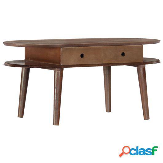 Mesa de centro de madera maciza de acacia 100x50x46 cm