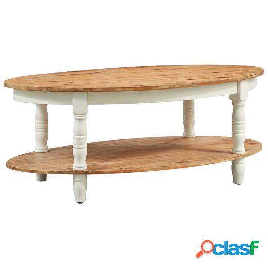 Mesa de centro de madera maciza de acacia 102x62,5x42 cm