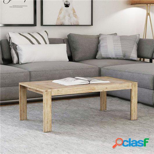 Mesa de centro de madera maciza de acacia cepillada