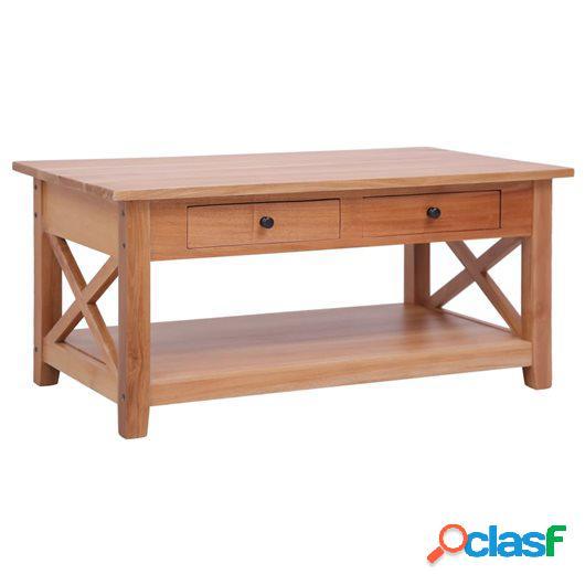 Mesa de centro de madera maciza de caoba 100x55x46 cm