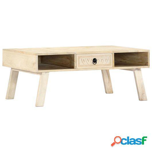 Mesa de centro de madera maciza de mango 100x60x40 cm