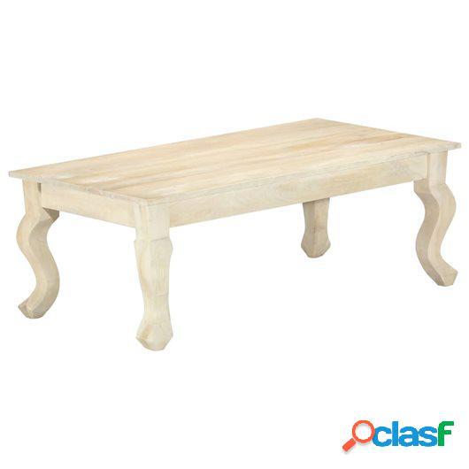 Mesa de centro de madera maciza de mango 110x60x40 cm