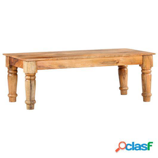 Mesa de centro de madera maciza de mango 115x60x41 cm