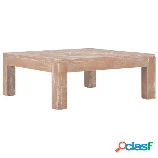 Mesa de centro de madera maciza de pino 70x70x28 cm