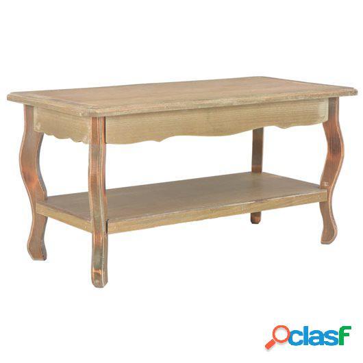 Mesa de centro de madera maciza de pino 87,5x42x44 cm