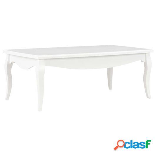 Mesa de centro de madera maciza de pino blanco 110x60x40 cm