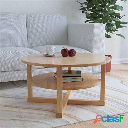 Mesa de centro de madera maciza de roble 75x40 cm