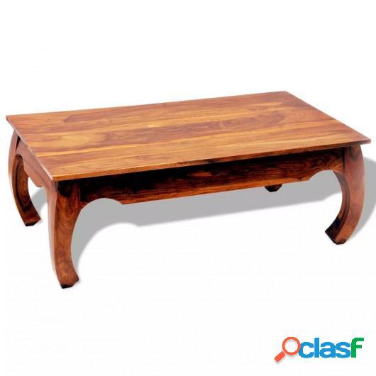 Mesa de centro de madera maciza de sheesham 40 cm