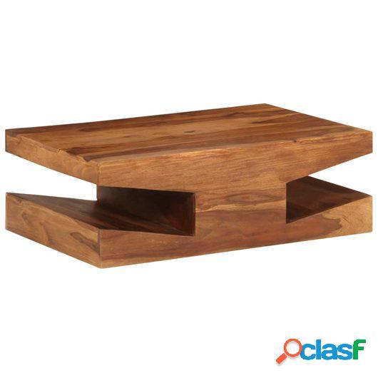 Mesa de centro de madera maciza de sheesham 90x60x30 cm