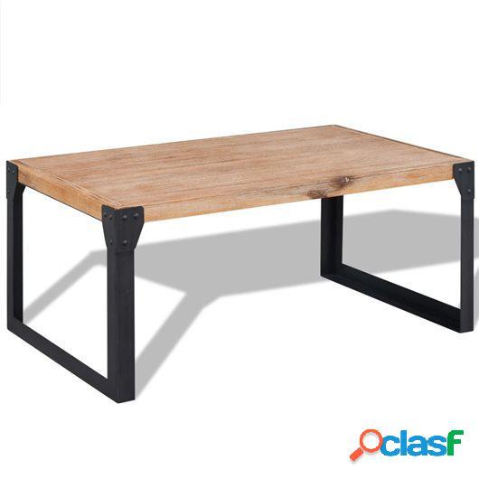 Mesa de centro de madera maciza reciclada 100x60x45 cm
