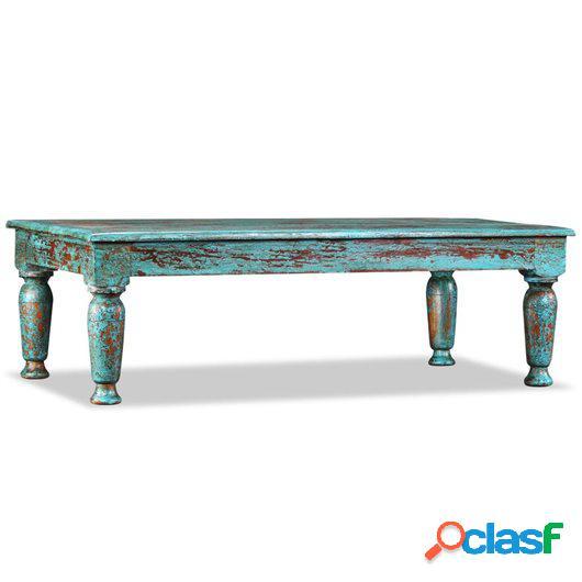 Mesa de centro de madera maciza reciclada 110x60x34 cm