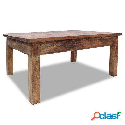 Mesa de centro de madera maciza reciclada 98x73x45 cm