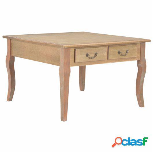Mesa de centro de madera marrón 80x80x50 cm