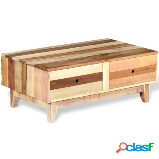 Mesa de centro de madera reciclada maciza
