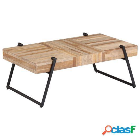 Mesa de centro de teca reciclada 90x50x33 cm