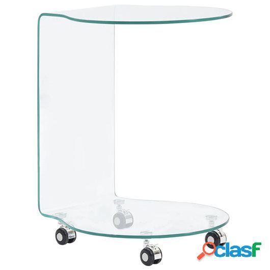 Mesa de centro de vidrio templado 45x40x58 cm