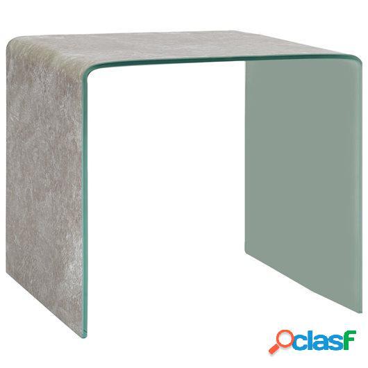 Mesa de centro de vidrio templado marrón mármol 50x50x45