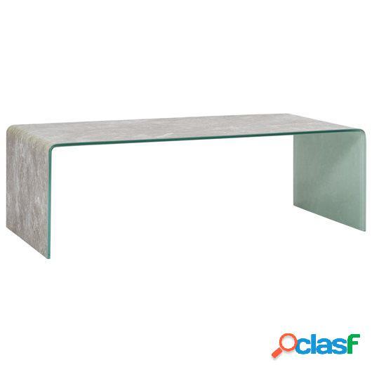 Mesa de centro de vidrio templado marrón mármol 98x45x31