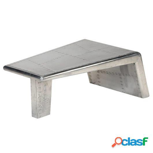 Mesa de centro estilo Aviator vintage aluminio