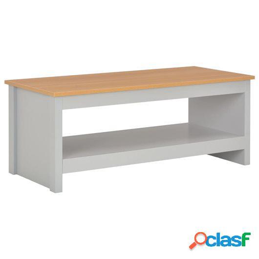 Mesa de centro gris 105x47x42 cm