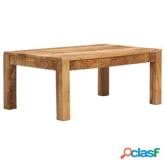 Mesa de centro madera maciza de mango 100x60x40 cm