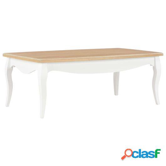 Mesa de centro madera maciza de pino blanco marrón