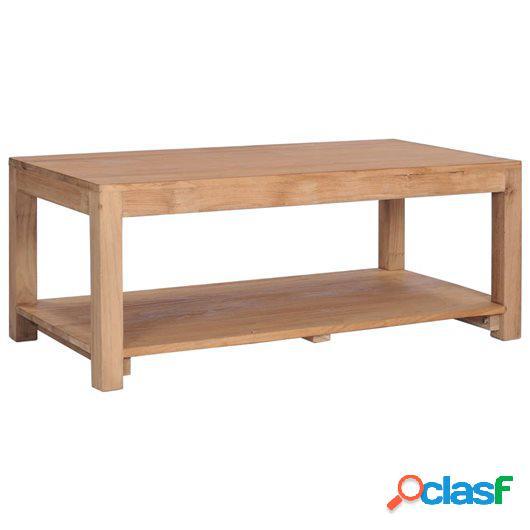 Mesa de centro madera maciza de teca 100x50x40 cm