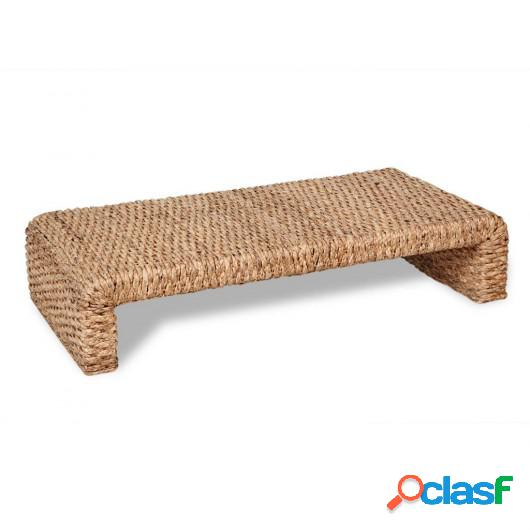 Mesa de centro tejida a mano de jacinto de agua