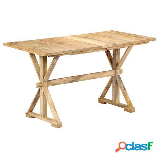 Mesa de comedor 115x58x76 cm de madera maciza de mango