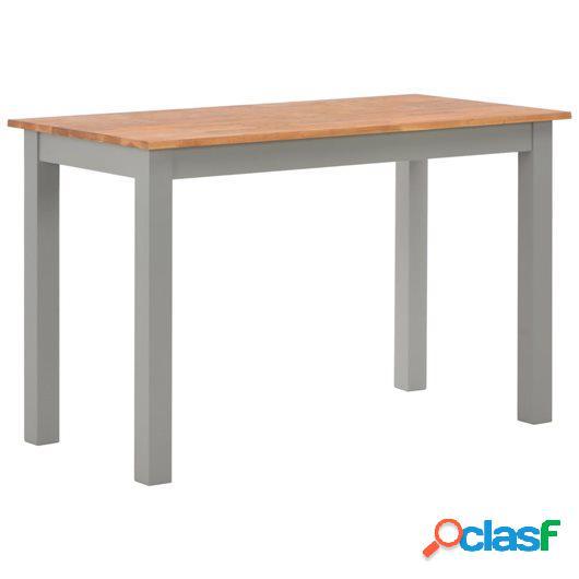 Mesa de comedor 120x60x74 cm madera maciza de roble