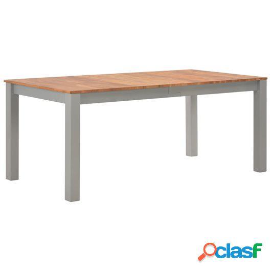 Mesa de comedor 180x90x74 cm madera maciza de roble