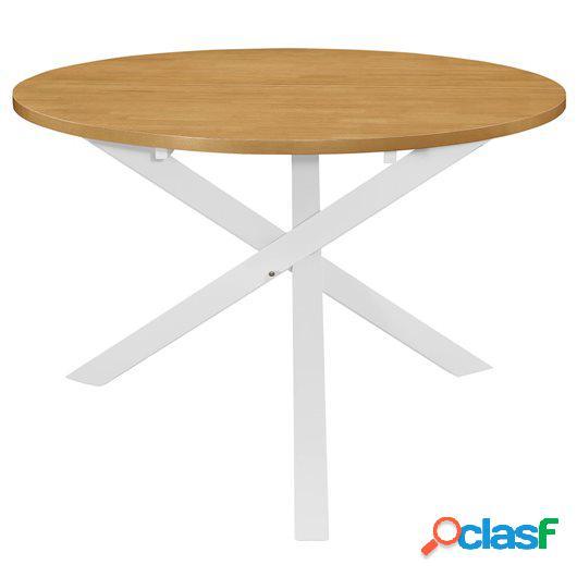 Mesa de comedor blanca 120x75 cm MDF