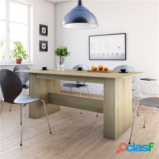 Mesa de comedor de aglomerado color roble Sonoma 180x90x76