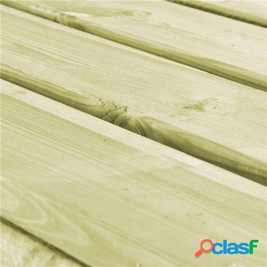 Mesa de comedor de jardín de madera FSC 160x79x75 cm