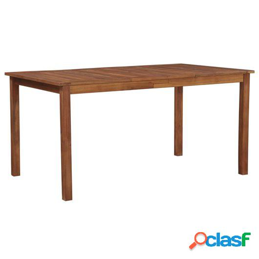 Mesa de comedor de jardín madera maciza de acacia 150x90x74