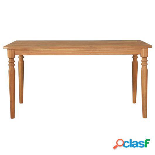 Mesa de comedor de jardín madera maciza de acacia 150x90x75