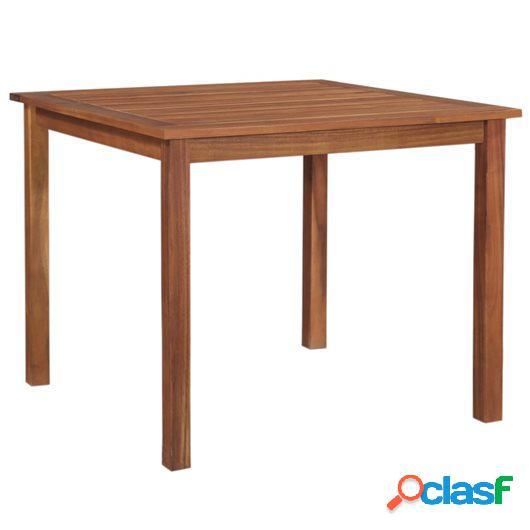 Mesa de comedor de jardín madera maciza de acacia 90x90x74