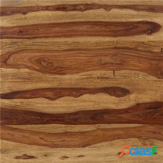 Mesa de comedor de madera de sheesham maciza 82x80x76 cm