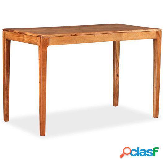Mesa de comedor de madera maciza 118x60x76 cm