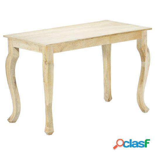 Mesa de comedor de madera maciza de mango 118x60x77 cm