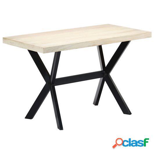 Mesa de comedor de madera maciza de mango 120x60x75 cm