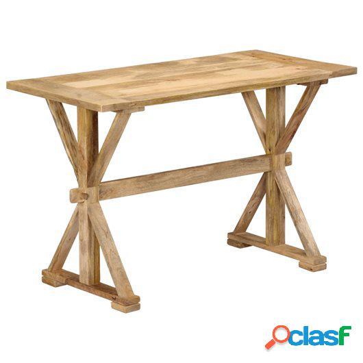 Mesa de comedor de madera maciza de mango 140x70x76 cm
