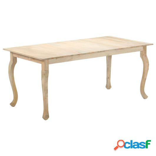 Mesa de comedor de madera maciza de mango 180x90x77 cm
