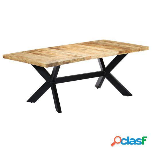 Mesa de comedor de madera maciza de mango 200x100x75 cm