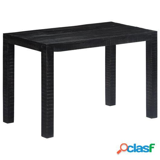 Mesa de comedor de madera maciza de mango negra 118x60x76 cm