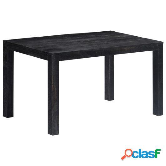 Mesa de comedor de madera maciza de mango negra 140x80x76 cm