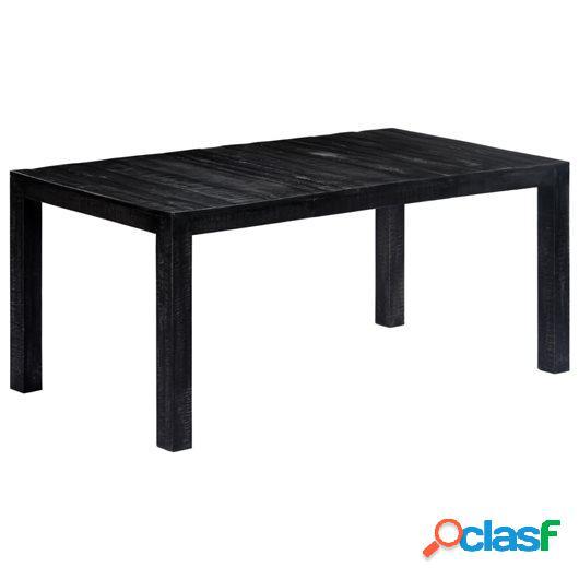 Mesa de comedor de madera maciza de mango negra 180x90x76 cm