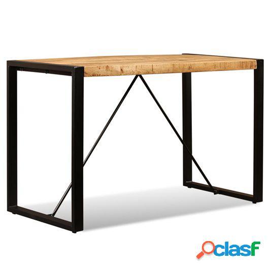 Mesa de comedor de madera maciza de mango rugosa 120 cm
