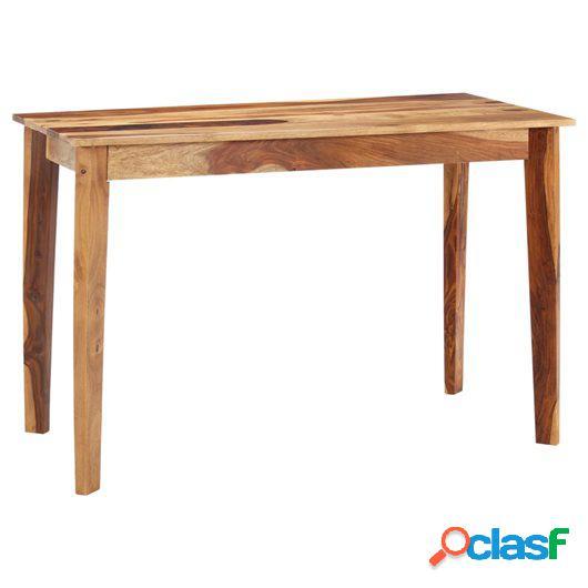Mesa de comedor de madera maciza de sheesham 118x60x76 cm