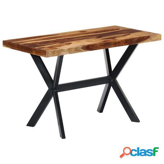 Mesa de comedor de madera maciza de sheesham 120x60x75 cm